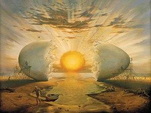 .... e per dirvela con Dalì, l'uovo è rinascita :) metamorfosi, vita nella vita ...