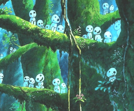 """dettaglio tratto da """"principessa Mononoke"""" di H. Miyazaki"""